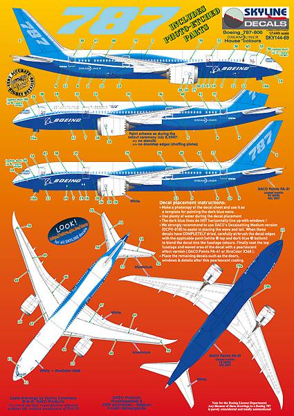 Boeing 787 Dreamliner Boeing House Colours